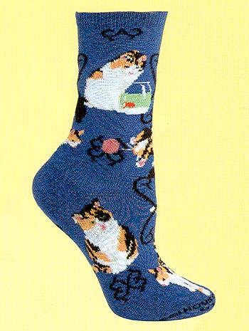 Calico Cat Socks from Critter Socks
